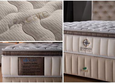 """Дизайнерская кровать с матрасом из 100% натурального латекса коллекция """"Compass Luxury"""""""