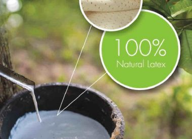Матрас из 100% натурального латекса 120х200х12см