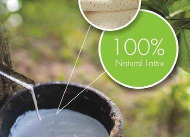 Матрас из 100% натурального латекса 90х200х12см